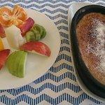 Pudding! The warm helva was fabulous!