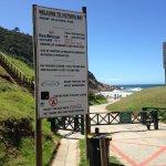 Beach information sign