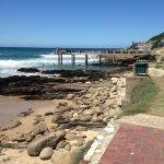Tidal swimming pool and fishing pier