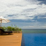 Infinity pool blends perfectly with the sea