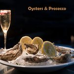 Oysters and Prosecco is a very popular combination