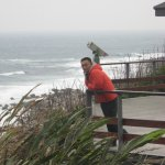 Our guide, Spencer, on the coast in Sanxiantai, Taitung