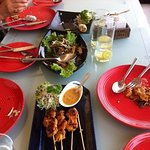 Delicious Sate and salad
