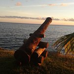 they have a cannon facing the ocean