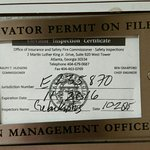 Elevator inspection certificate expired