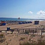 Alvor Boardwalk ending at the Alvor Beach