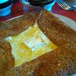 galette fromagère et miel