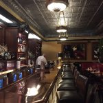 Lindey's beautiful bar just around closing time.