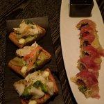 Apps: Crab and Bread & Paella Maki Rolls