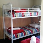 2nd bedroom with bunks and single bed