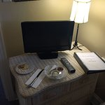 TV and cheese tray