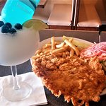 ********How about a Breaded TENDERLOIN with our COLTS MARGARITA (Pina colada, coconut, and pinea