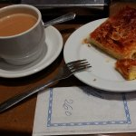 Napolitana de Crema and cafe latte = EUR2.60