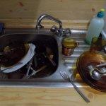 Impossible de cuisiner, évier plein de vaisselle sale