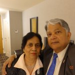 Aruna & Hari Sharma in Rm 744 Colonnade Boston