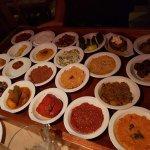 22 mezze platter. No menus here. Point and eat!