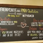 Wall in Le Pain Quotidien