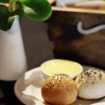 Complimentary bread rolls