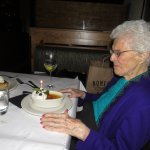 creme brulee with candle - perfect