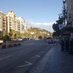 Gatan där hotellet ligger