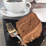 Coffee and walnut cake - so yummy I stayed before taking the picture