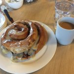 Awesome giant cinnamon roll!