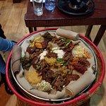 Tasty Ethiopian food.....