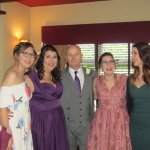 karen and pete with daughters carla kirsty and laurel