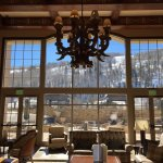 The lounge overlooking Vail Mountain