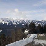 view of Kicking Horse ski resort from the window