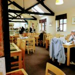 The delightfully quaint, light and airy Bashley Manor Tea Rooms!