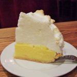 Ordered one slice to share, but could not complete. Real lemons and meringue mountain.