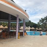 Pool and beach area