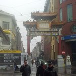 Entrance to Antwerp's Chinatown. Bai Wei will be on left after gate
