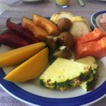 Plato de fruto del desayuno