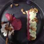 gâteau framboise/pistache délicieux !!