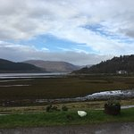 View of Loch Sunart from the Hotel when the tide was out.