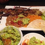 CARNE ASADA PLATE Whole Beef Steak Served with Grilled Onions & Pico De Gallo, GUACAMOLE