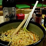 Was here alone, but it's my husband's favorite Narita Bowl, so he joined me by photo.
