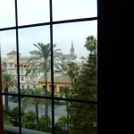 View of the Alcazar from our bedroom window.