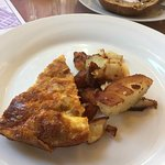 Frittata and potatoes