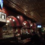 The fantastic back bar -- with Papa