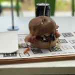 Beautiful gluten free pork burger