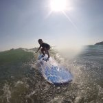 Our Eight Year Old Catching Waves with Dante's Surf School