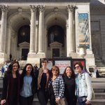 Max took a picture of our group at New York Public Library