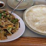 Mu Shu pork with crepes
