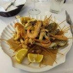 fruits de mer et légumes tempura