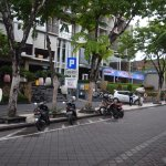 Front view of The ONE Legian - taken at 6 AM before traffic jam starts to build up at around 8 A