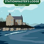 Stationmasters Lodge holiday house overlooking Loch Carron near Skye Scotland