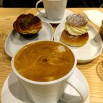Delicious coffee and their cardamom bun was great too